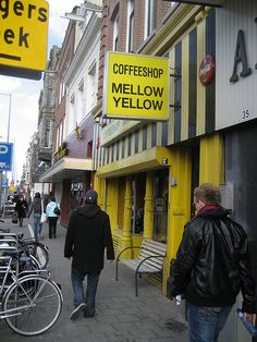 OH MY FREAKING GOD....NOSTALGIA!!!   I NEED THIS IN MY HOME POSTER SIZE! The tradition was, get off the plane, take the train to Central, go straight to mellow yellow...good ol' days. Amsterdam coffee shop. Mellow yellow