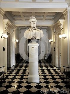 Photo about A large culture of Abraham lincoln on a pedestal in the Hall of Inscriptions of the Vermont statehouse on a black and white checker board floor. Image of victorian, bust, lincoln - 76386707 Checker Board, Pedestal, Vermont, Editorial Photography, Abraham Lincoln, Old World, Victorian, Floor, Culture