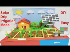 solar drip irrigation model for science fair project [ agriculture farming ] Science Exhibition Projects, Science Fair Projects, School Projects, Projects For Kids, Agriculture Projects, Agriculture Farming, Science Toys, Science For Kids, Drip Irrigation