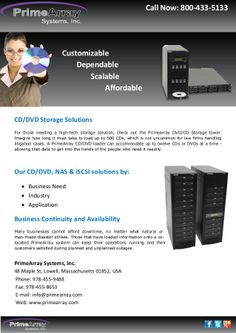 for those needing a high tech storage solution check out the primearray dvd