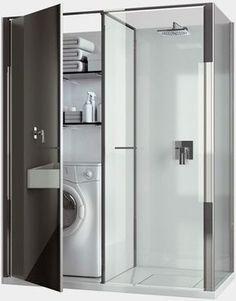 shower and washing machine combo