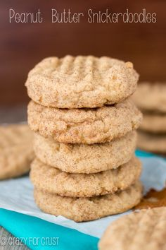 Peanut Butter Snickerdoodles | crazyforcrust.com