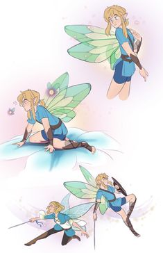I had this idea and it makes me so unbelievably happy look at how cute they are. Link gets his wings after being summoned to help Princess Zelda save the world of fairies, and Zelda has short hair bc. Legend Of Zelda Memes, The Legend Of Zelda, Legend Of Zelda Breath, Character Inspiration, Character Design, Image Zelda, Twilight Princess, Princess Zelda, Fanart