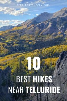 Telluride, Colorado isn't just a great skiing destination, it's got amazing hiking as well! In summer and fall, the mountains of Colorado offer stunning scenery and weather to die for. Check out our picks for the best hikes near Telluride!