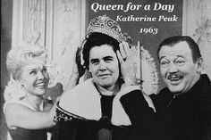 Queen for a Day - My mother-in-law won in 1953!