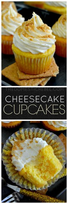 These Cheesecake Cupcakes are delightfully easy cupcakes that taste just like rich and creamy cheesecake! by @domestic_rebel