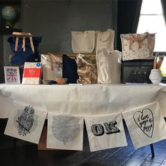 Sunday craft stall set up in East Dulwich Mala tote bags on sale #art_shot #arts_mag #artnerd2016 #art_spotlight #artcollective #artists_insta #artistsharing #instaart #sfs #spotlightonartists #craftart #craft #make #create #totebag #craft #bags