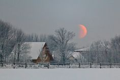 barn & the moon....