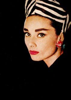 Audrey Hepburn posing for Harper's Bazaar, October 1956