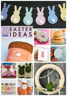Getting ready for Easter? Check out these great ideas -- 20 Easter ideas including recipes, decor and more!