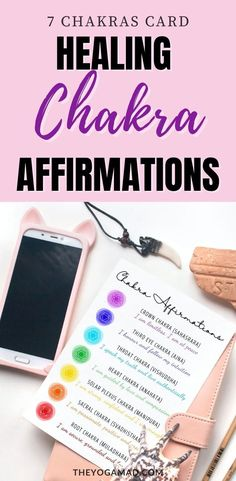 Affirmations for each chakra in this beautiful card - place it in your purse or give it to someone you love! Root Chakra Healing, Sacral Chakra, Chakra Affirmations, Affirmation Cards, Solar Plexus Chakra, Third Eye Chakra, 7 Chakras, Chakra Balancing, Chakra Meditation