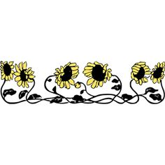 Sunflower Border Clipart Cliparts Of Free