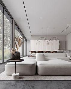 Apartment Interior, Interior Design Living Room, Living Room Designs, Living Room Lighting Design, Modern Minimalist Living Room, Living Room Modern, Minimalist Interior, Cozy Living, Minimalist Home Design