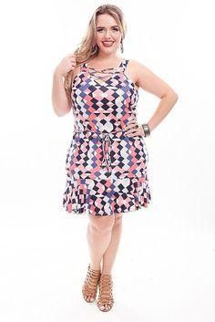 Vestido Plus Size Jessica - Alto Verão 2017 - Confira em www.daluzplussize.com.br