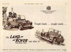 Vintage Land Rover ad... the Land Rover can take it!