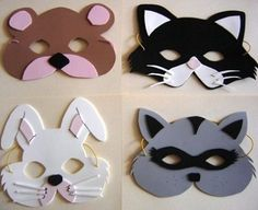 Carnival masks and costumes for kids - Rustikale Weihnachten Diy And Crafts, Crafts For Kids, Arts And Crafts, Paper Crafts, Felt Mask, Animal Masks, Little Pigs, Mask For Kids, Activities For Kids
