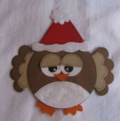BethieJ's Blog!- My Scrappy/Crafty Spot!: Happy Monday!- My version of the owl! Christmas Tree Quilt, Christmas Owls, Felt Christmas Ornaments, Handmade Ornaments, Christmas Crafts, Christmas Decorations, Christmas Punch, Xmas, Cd Crafts