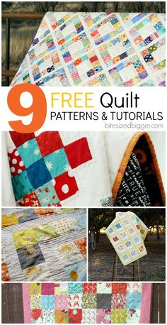 9 free easy quilt patterns and tutorials