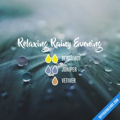 Relaxing Rainy Evening - Essential Oil Diffuser Blend