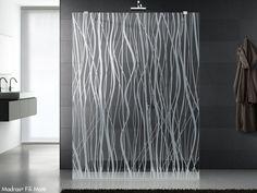 Crystal shower wall panel MADRAS® FILI MATE' by Vitrealspecchi   design Ivo Pellegri
