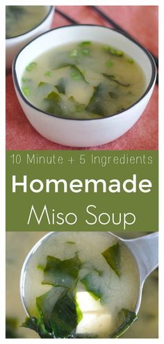 Soup Homemade Miso Soup – A quick and easy recipe for a classic Japanese dish! All you need is 5 simple ingredients to make delicious miso soup at home!The Recipe The Recipe may refer to: Easy Soup Recipes, Chili Recipes, Asian Recipes, Vegetarian Recipes, Cooking Recipes, Healthy Recipes, Easy Miso Soup Recipe, Meso Soup Recipe, Mexican Recipes