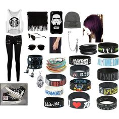 C.J. concert by whileyourereadingimeatingpizza on Polyvore featuring Paige Denim, Converse, Disney, Funk Plus, GE, Pieces, Bling Jewelry and Calvin Klein