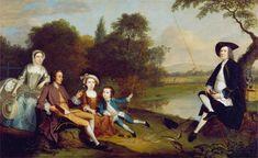 The Swaine Family by Arthur Devis(1712-1787)