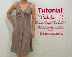 Free download of BurdaStyle 2012-02-113 in siz 36 only with link to tutorial in Spanish   EL BAÚL DE LAS COSTURERAS