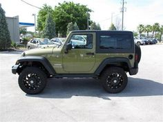 2013 Green Jeep Wrangler SPORT http://www.iseecars.com/used-cars/used-jeep-wrangler-for-sale