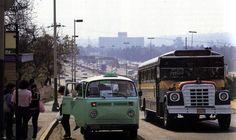 Transporte urbano de la Ciudad de México.   Se puede apreciar la zona de Santa Mónica y Ciudad Satélite.