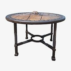 Antique Wooden Wagon Wheel Coffee Table €780.00