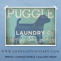 Laundry room decor dog art dog wash art sign wall art print mudroom puggle laundry company laundry room artwork giclee archival signed artists print by stephen fowler pick a size solutioingenieria Choice Image