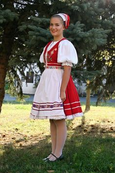 folk costumes from Slovakia, Zemplín region, Eastern Slovakia. Folklore, Folk Costume, Costumes, Heart Of Europe, People Of The World, Traditional Outfits, Cheer Skirts, Culture, Summer Dresses