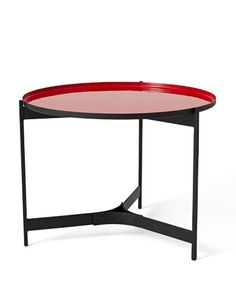 2 / BUTLER RED SIDE TABLE BY CB2