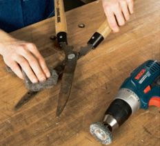 Yard Tool Care. The good news is you don't have to get rid of those crusty-but-trusty tools: You can restore them to their former glory with the following tried-and-true sharpening tactics.