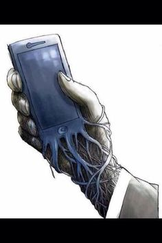 Banksy, the U. street artist who doesn't shy from making commentary on social and technology issues with his graffiti street art, published a new sketch with a terrifying reminder that your iPhone has basically become a parasitic extension. Art Sketches, Art Drawings, Street Art, Bansky, Gcse Art, Urban Art, Caricature, Amazing Art, Awesome