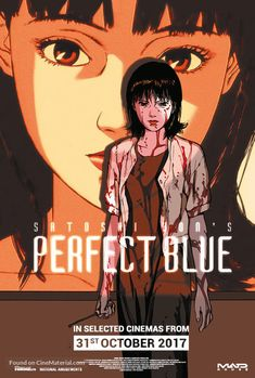 British movie poster image for Perfect Blue The image measures 600 * 889 pixels and is 139 kilobytes large. Blue Anime, M Anime, Anime Art Girl, Animation Storyboard, Animation Reference, Spirit Fanfic, Satoshi Kon, Blue Poster, Cute Anime Pics