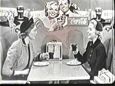 Ladies who lunch - with Coca Cola Vintage Videos, Vintage Tv, Vintage Posters, Easy Listening, Radios, Commercial Advertisement, Old Commercials, Old Advertisements, Retro Ads
