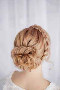 White and Gold Wedding. Bridesmaid Hair. Wedding Hairstyle: Updo