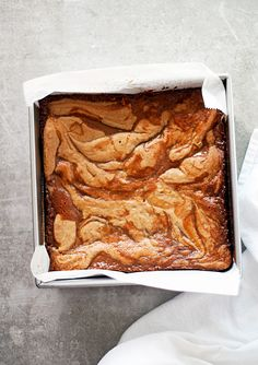 browned butter caramel swirled blondies | ahappyfooddance.com