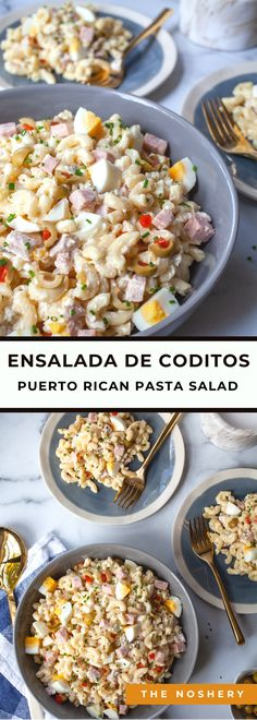A classic macaroni salad with a Puerto Rican twist. This salad makes its appearance many PR events from birthday parties to holiday feasts.