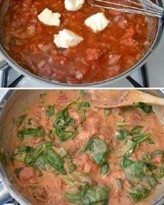 Creamy Tomato Spinach Pasta | Want-to-Share.com