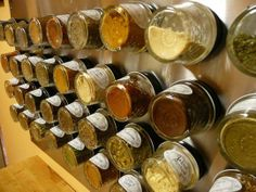A magnetic mason jar spice rack is the answer to all of your kitchen organization DIY dreams!