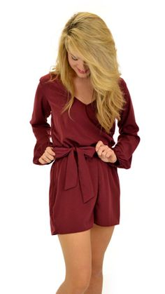 Date Night Romper, Burgundy :: Bottoms :: The Blue Door Boutique Spring Summer Fashion, Autumn Winter Fashion, Spring Outfits, Fasion, Fashion Outfits, Dress Me Up, Passion For Fashion, Dress To Impress, Lady