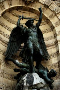 Archangel Michael, Place St-Michel, Paris