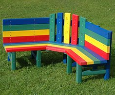 bench idea, doesn't have to be in a kids room, can be used outside too