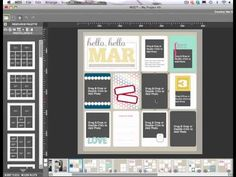 Stampin' Up! Project Life Templates - HOW TO TURN A PAGE INTO A TEMPLATE  ERICA SHAW