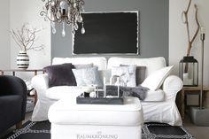 cozy livingroom in greyscale