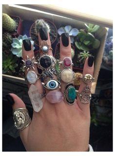 Hippie Jewelry, Cute Jewelry, Jewelry Accessories, Stylish Jewelry, Hand Jewelry, Stone Jewelry, Hipster Accessories, Cheap Jewelry, Jewelry Trends