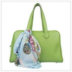 Hermes Lawn Green Victoria Tote Bag $225.00 Save: 77% off
